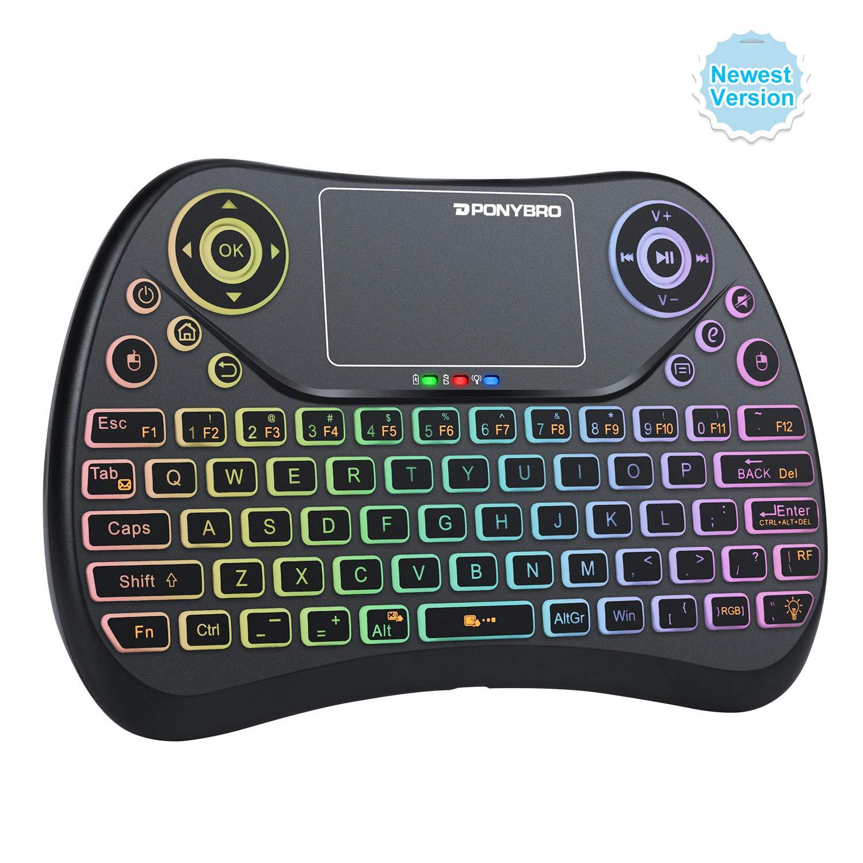 PONYBRO Wireless Keyboard Raspberry Notebooks