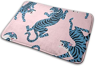 """Cute Tigers Floor Rug Indoor/Front Door Mats Home Decor Rubber Non Slip Backing 23.6""""(W) X 15.8""""(L)"""