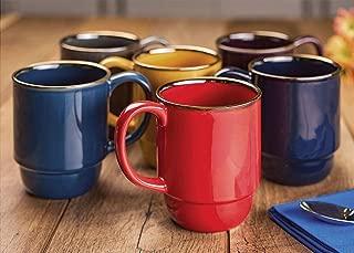 Stoneware Stacking Mugs, Set of 6