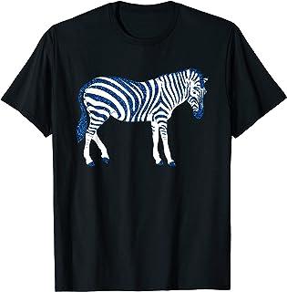 Afrique Blue Zebra animal cadeau d'anniversaire nouvelle T-Shirt