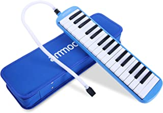 ammoon Melodica 32 Keys Piano Instrument with Carry Case for Music Lovers Beginners Kids - Blue