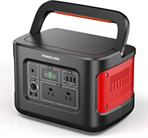 Portable Power Station, 280Wh/78000mAh Portable Solar Generator with 110V/400W AC Outlet, PD 100W Energy Storage Power Supply for CPAP Outdoors Camping Travel Hunting Emergency Power and More