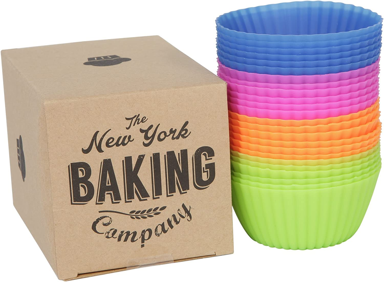 The New York Baking Company Silikonbackformen, Muffinformen, Muffinformen, Muffinformen, 24 Stück, BBUD001 B00TIMYBSS b5b9c5