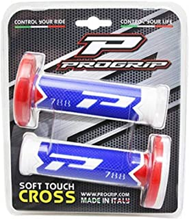 Cross-MX Paire Revetement poignee progrip Off Road 788 Triple densite Special Edition Blanc-Bleu-Rouge 115mm