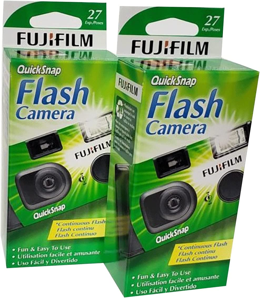 Seasonal Wrap Introduction Fujifilm QuickSnap Flash 400 Disposable Camera 2 Pack of Max 68% OFF 35mm