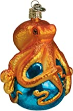 Old World Christmas Ornaments: Octopus Glass Blown Ornaments for Christmas Tree (12129)