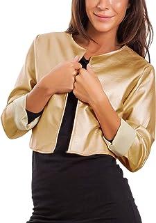 buy online 42b68 60ebf Amazon.it: Giacca - Oro / Donna: Abbigliamento