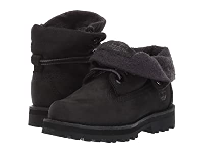 Timberland Kids Courma Roll Top Boot (Toddler/Little Kid) (Black Nubuck) Kid