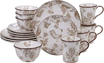Certified International Toile Rooster  16 pc Dinnerware Set, Service for 4,One Size, Multicolored