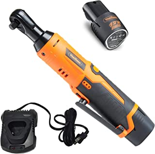 VonHaus Cordless Electric Ratchet Wrench Set with 12V Lithium-Ion Battery and Charger Kit 3/8