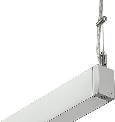 Lámpara de techo Luxuni Shift, plata 1011260131