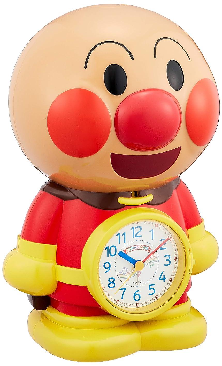 脊椎お酢計画的それいけ アンパンマン 目覚まし時計 キャラクター アナログ おもしろ おじゃべり 音声 3D 茶 リズム時計 4SE552-M06