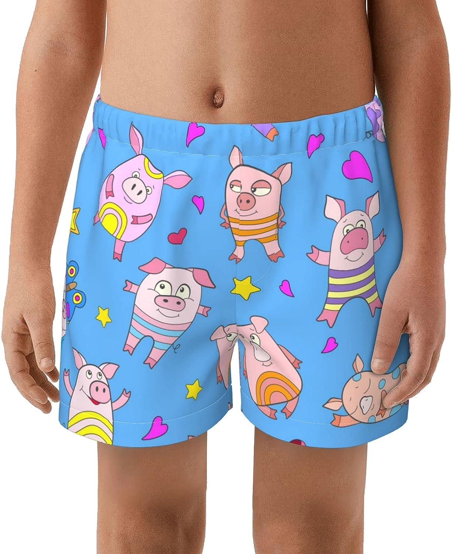 NSZOIHBZK Kids Beach Shorts Board Shorts Swimwear Boys Swim Trunks Elastic Waist Trunks
