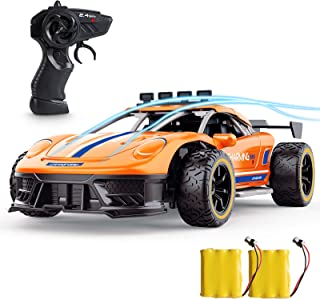Remote Control Car, SPESXFUN High Speed 2.4Ghz 1/16 RC Car, Radio Electric RC Cars Toy Cars Model Vehicle with Two Rechargeable Batteries, Drift Racing Car Toy Car Xmas Gift for Boys Girls and Adults