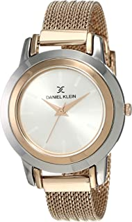 Daniel Klein Womens Quartz Watch, Analog Display and Stainless Steel Strap DK12061-7