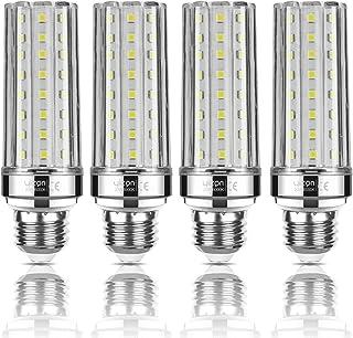 Yiizon Bombillas LED de maíz E27 20W equivalentes a bombillas incandescentes de 150 W 6000K Blanco Frío 2000LM bombillas de tornillo E27 Edison, bombillas LED de candelabro no regulable 4 Paquete