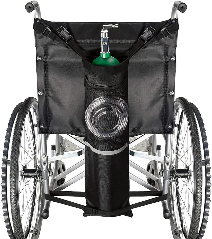 Bolsa de cilindro de oxígeno, portador de oxígeno portátil, correas ajustables, fácil de limpiar, resistente, impermeable, tamaño estándar para silla de ruedas, se adapta a cualquier silla de ruedas