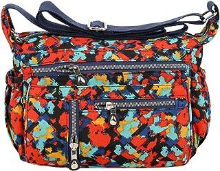 Wiwsi Functional Pocket Design Casual Handbag Messenger Bag Crossbody for Women