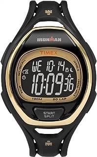 Ironman Sleek 50 Full-Size | Gold Dial Black Strap | Sport Watch TW5M06000