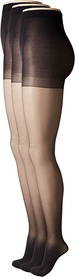 Age Defiance Sheer Pantyhose with Control Top (3-Pack)