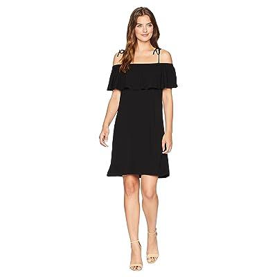 Michael Stars Rylie Rayon Multi-Wear Ruffle Dress (Black) Women