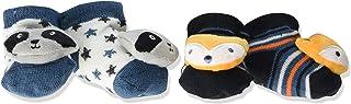 BON BEBE Kids' Little Baby Newborn 2 Pack Rattle Socks
