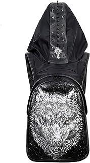 Pu Men's Backpack Hat Bag Outdoor Backpack 1 Piece,Silver