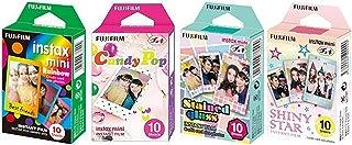 Fujifilm InstaX Mini Instant Film Rainbow & Staind Glass & Candy Pop & Shiny Star Film -10 Sheets X 4 Assort Value Set