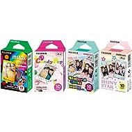 Fujifilm InstaX Mini Instant Film Rainbow & Staind Glass & Candy Pop & Shiny Star Film -10 Sheets...