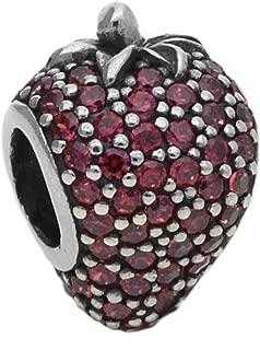 791899czr Pave Strawberry Charm