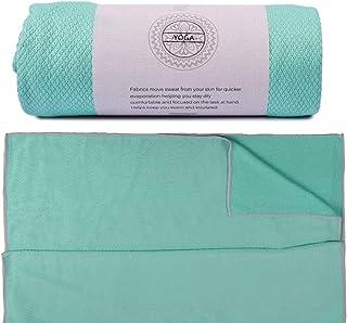 UCEC Yoga Mat Towel, Non-Slip Hot Yoga Towel, Sweat Absorbent, 100% Microfiber for Hot Yoga, Bikram, Pilates and Fitness (...