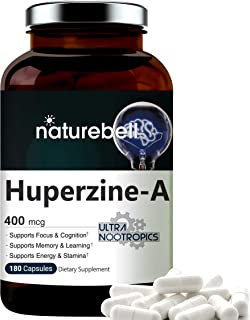 Huperzine A 400mcg Per Serving, 180 Capsules, (Huperzine A Supplement), Supports Focus, Cognition, Memory and Learning Abi...