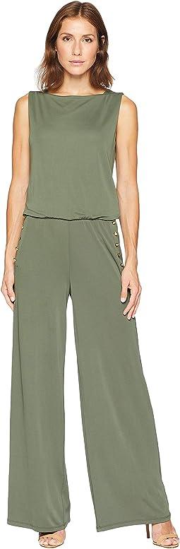 Jersey Wide-Leg Jumpsuit