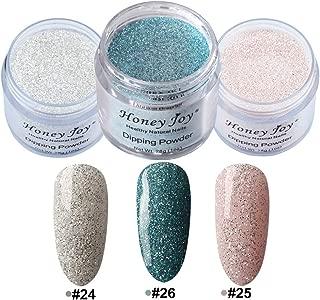 3pcs 28g/Box Multi Colorful Dipping Powder Without Lamp Cure Nails Dip Powder Summer Gel Nail Color Powder Natural Dry (24-25-26)
