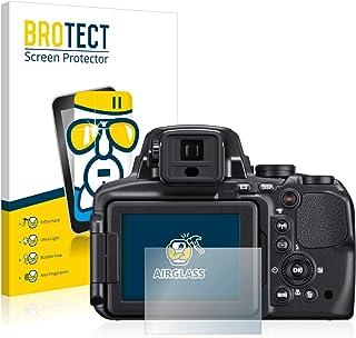 BROTECT Protector Pantalla Cristal Compatible con Nikon Coolpix P900 Protector Pantalla Vidrio Dureza 9H AirGlass
