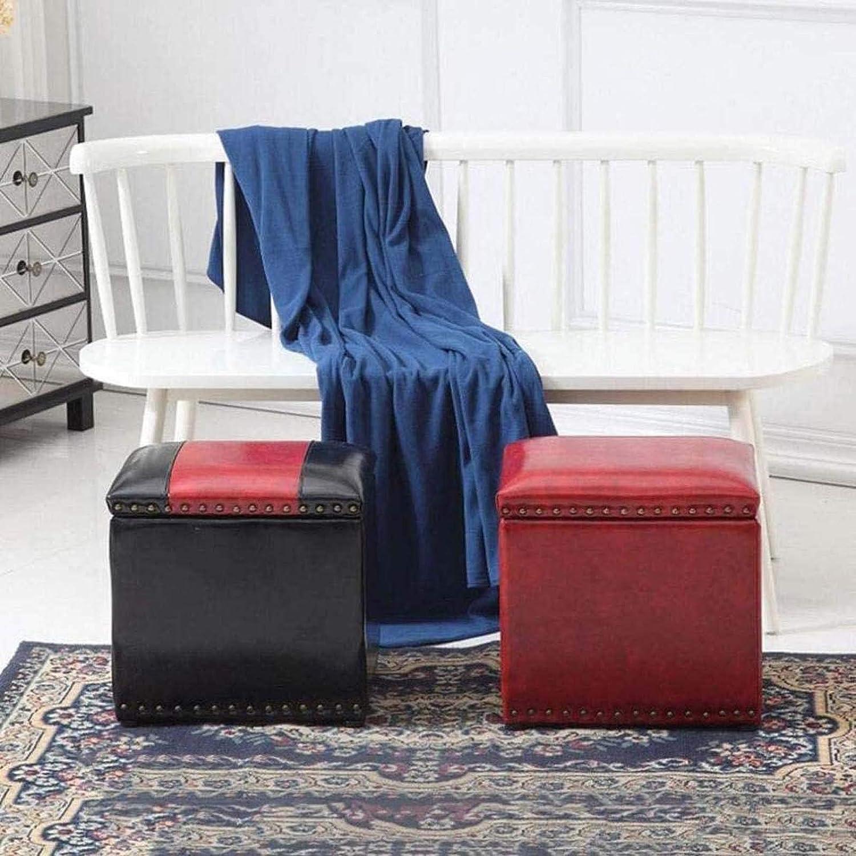 Chambre Tabouret Pouf de rangement - cuirette place Pouf de rangement Repose-pieds Couvercle moderne Tabouret de ménage,#1 #8