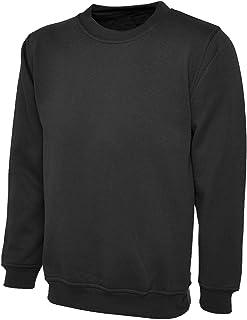 xpaccessories Mens Plain Classic Sweatshirt Sweater Jumper Top Casual Work Leisure Sport S-2xl