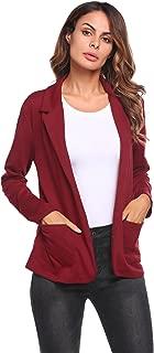 Womens Casual Work Office Blazer Open Front Long Sleeve Cardigan Jacket