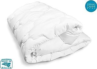 STEFANO ZANNI Protector de colchón Acolchado de Algodón 233 Hilos capitonado (King Size)