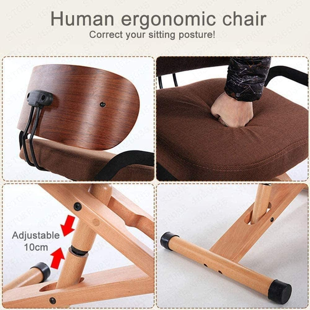 Fauteuil Hauteur réglable ergonomique Genoux Accueil Chaises de bureau orthopédique Posture Chaise tabouret (Color : A1) B1