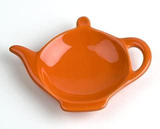 Omniware Orange Ceramic Tea Caddy and Infuser Holder
