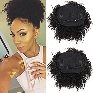 Best afro kinky curly human hair ponytail Reviews