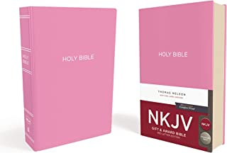 NKJV, Gift and Award Bible, Leather-Look, Pink, Red Letter Edition, Comfort Print: Holy Bible, New King James Version
