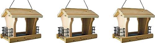 discount Woodlink NARANCH3 12-Inch popular Audubon Cedar Ranch popular Wild Bird Feeder, Large (Pack of 3) sale