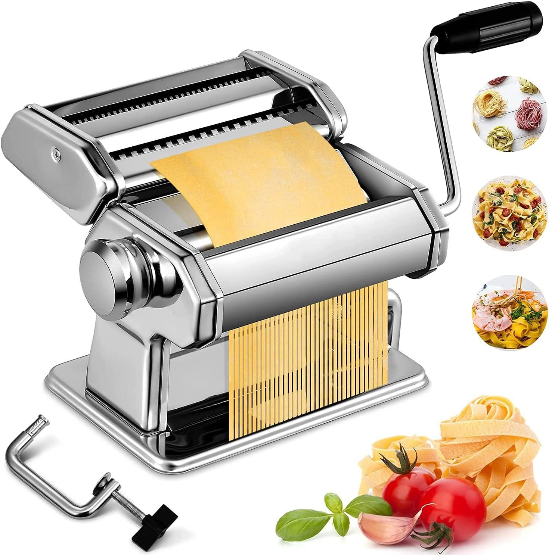 Pasta 2021new shipping free shipping Maker Machine Manual Stainless supreme 7 Adju Steel Noodles