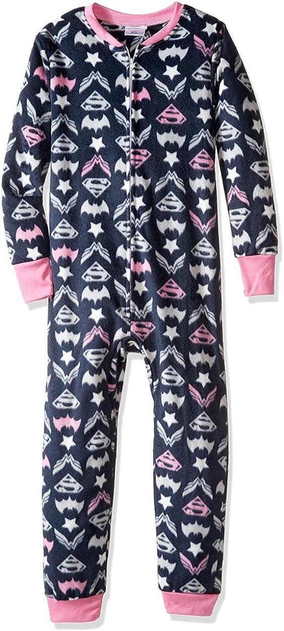 DC Comics Big Dc Hero Girls Union Suit Mink Fleece