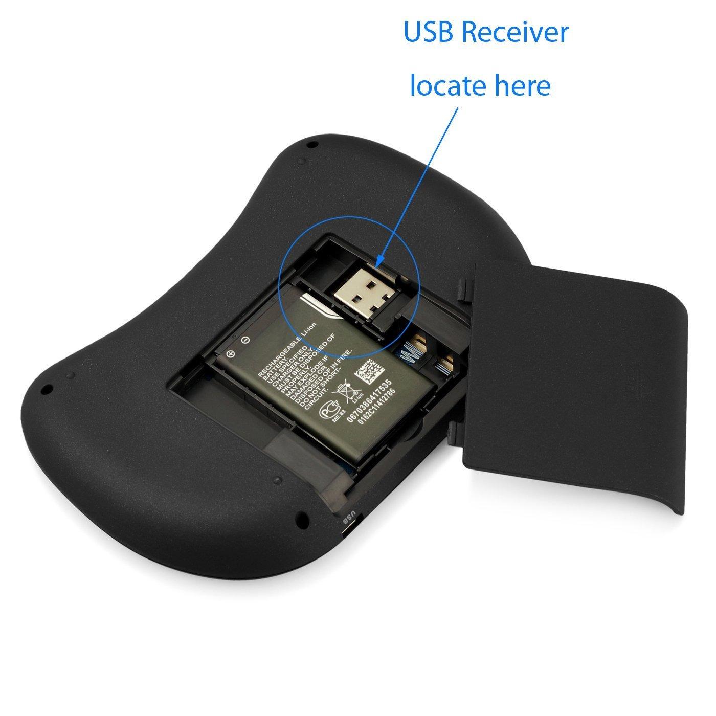 2.4 GHz Mini Wireless QWERTY Teclado con Touchpad Ratón móvil, Li-Ion Battery Para Philips 55pus6482/12 55pus6412/12 55pus6262/12 Smart TV: Amazon.es: Electrónica