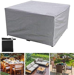 GAOANMO Fundas de Muebles, Impermeable Cubierta de Exterior Funda Protectora Muebles Oxford Resistente al Polvo Anti-UV para Sofa de Jardin Mesa y Sillas (Personalizable)