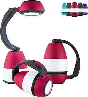 Enbrighten Red 3 in 1 LED Combo Lantern, Single-Pack, Flashlight, Task Light, Battery Operated, 200 Lumens, High/Low/Off, ...