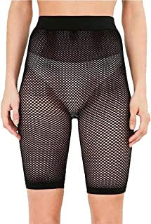 Rimi Hanger Womens Sporty Fishnet Mesh Cycling Shorts Hot Pants All Over Mesh Cycle Shorts S,M,L